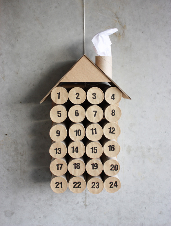 DIY calendario de adviento fácil