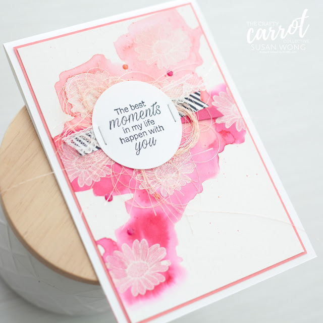Daisy Lane by Stampin' Up! Watercolour card - Susan Wong for The Crafty Carrot Co.