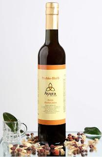 http://ayurvedshop.hu/ayurveda-termekek/ayura-herbal-italok-143/juice-felek-172/ayura-probio-herb-juice-458