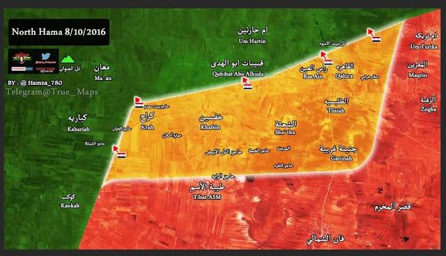 rezim assad kuasai desa di utara hama