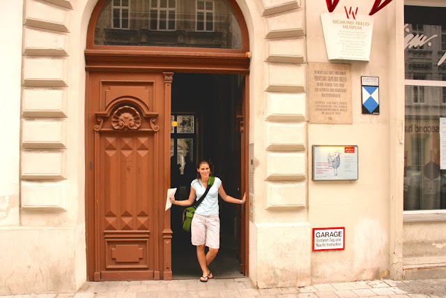 Standing in front of Sigmund Freud's Vienna office museum