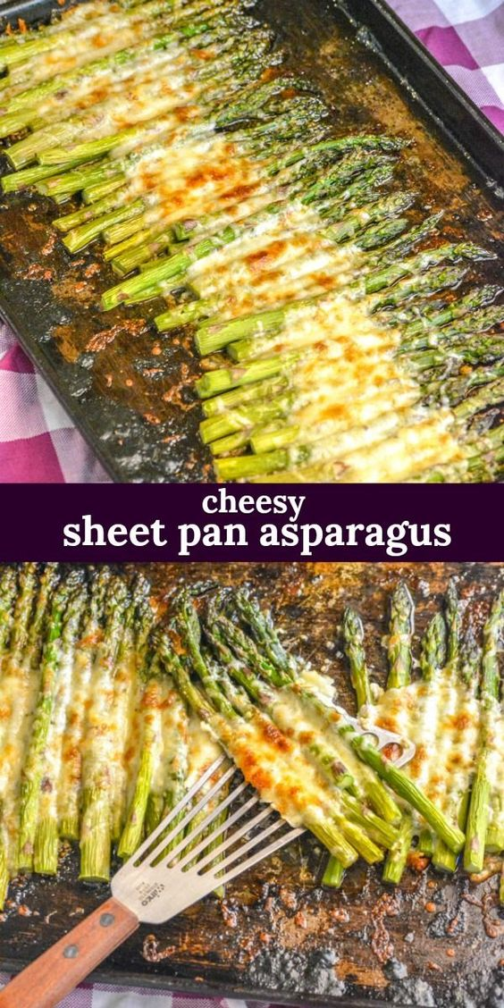 GARLIC ROASTED CHEESY SHEET PAN ASPARAGUS #recipes #dinnerrecipes #funrecipestomakefordinner #food #foodporn #healthy #yummy #instafood #foodie #delicious #dinner #breakfast #dessert #lunch #vegan #cake #eatclean #homemade #diet #healthyfood #cleaneating #foodstagram