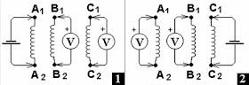 определения начала и конца обмоток трехфазного двигателя