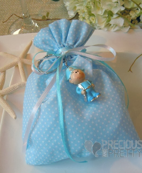 Christening favors for boy with pirate