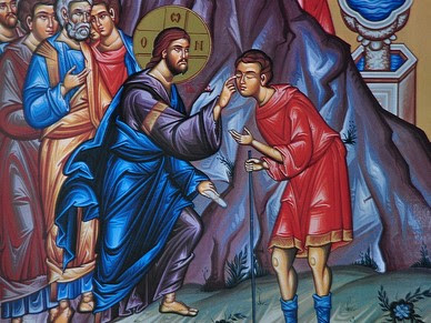 Jesus healing the man born blind