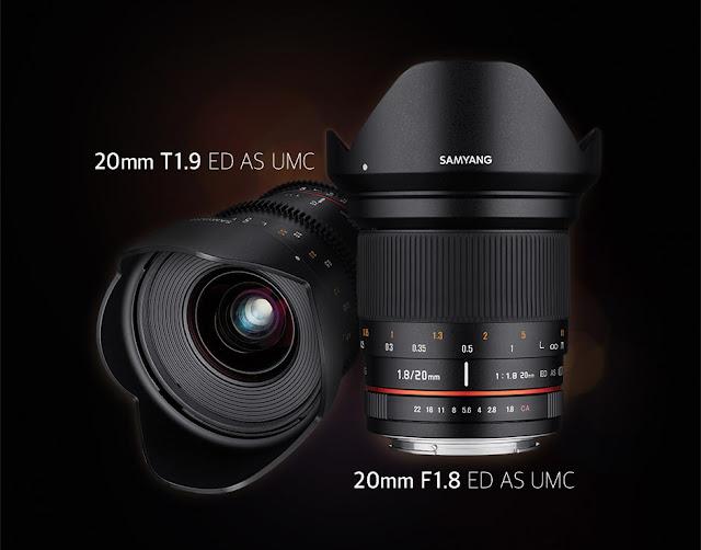 Fotografia del Samyang 20mm f/1.8 e 20mm T1.9