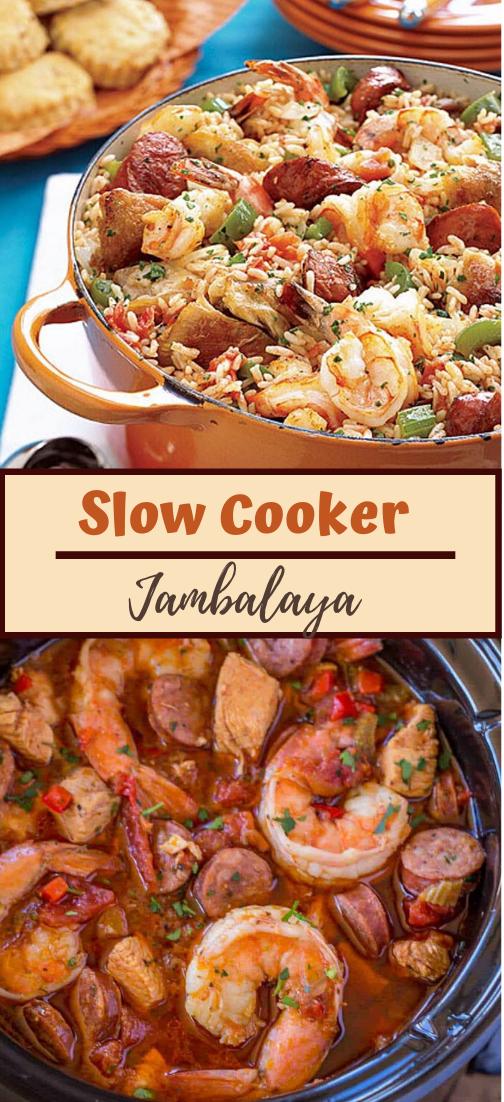 Slow Cooker Jambalaya #dinnereasy #quickandeasy #dinnerrecipe #lunch #amazingappatizer