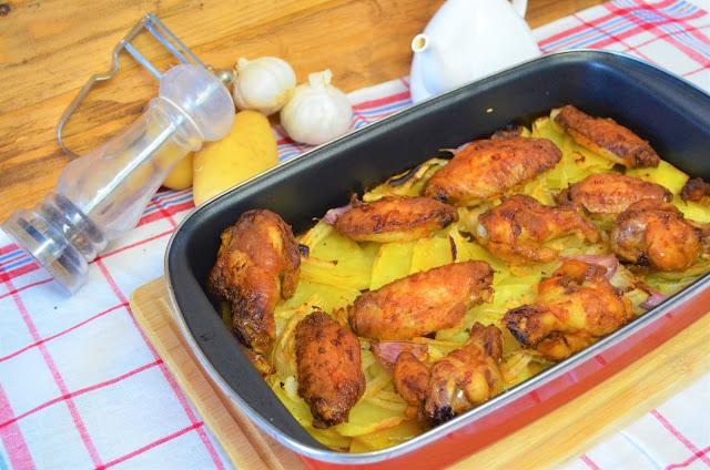 Las delicias de Mayte, alitas de pollo adobadas, alitas de pollo, alitas de pollo al horno con patatas, alitas de pollo crujientes, alitas de pollo adobadas al horno, alitas de pollo con patatas al horno, alitas de pollo al horno,