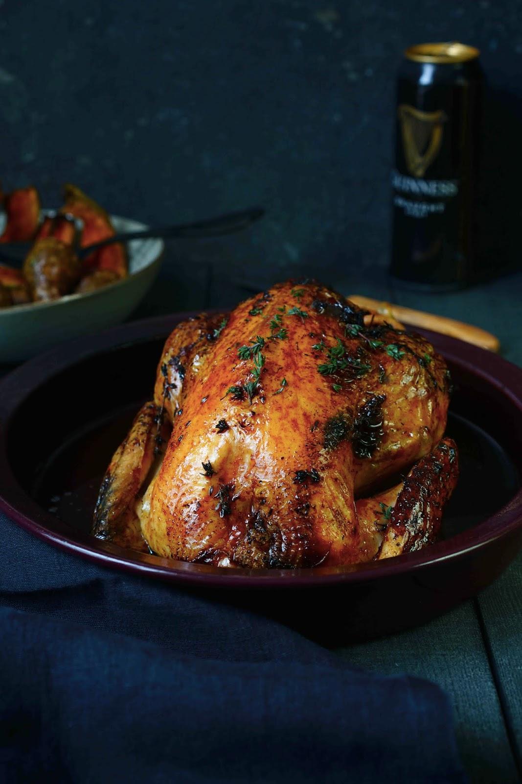 poulet à la bière Guinness , recette irlandaise , cuisine du dimanche , recette facile à faire