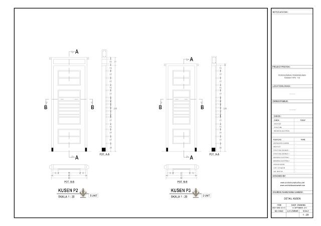 Detail Kosen Rumah Lantai 1 - P2 dan P3
