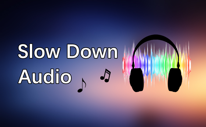 how to slow down audio speed