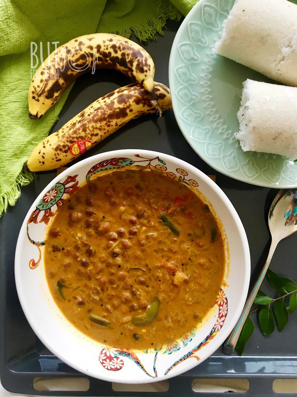 Kerala Style Kadala Curry | Black Chickpeas Curry in Roasted Coconut Sauce