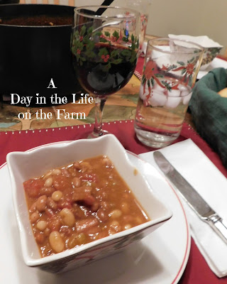 Mexican Ham Soup and Spanish Rioja Wine
