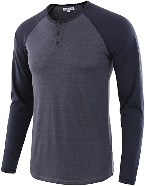 HARBETH Men's Casual Long Sleeve