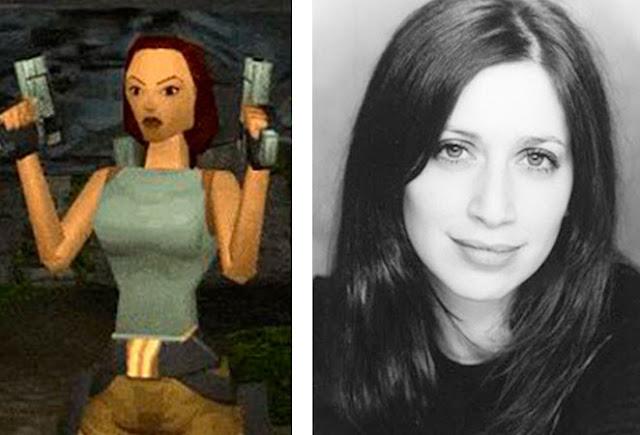 A primeira versão de Lara e a atriz Shelly Blond
