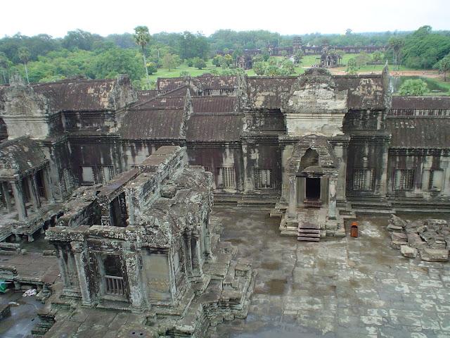 Vue aérienne des temples d'Angkor - Cambodge