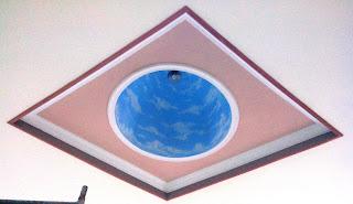 Plafon variasi dome dengan kombinasi dropceiling