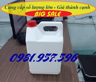www.123nhanh.com: Can trắng 5l, can chữ nhật 5l, can đựng chất tẩy