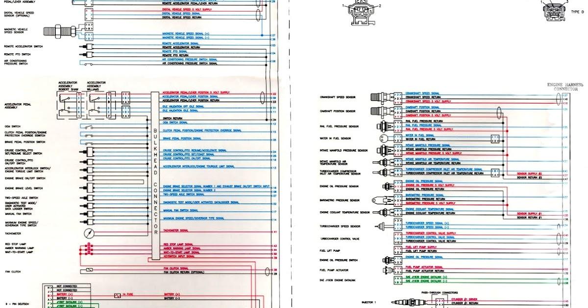 ISC y ISL CM850 Electronic Control Module Wiring Diagram