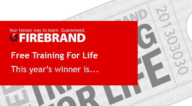 Firebrand Announce the fifth winner of Free Training For Life