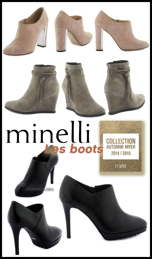 Collection MINELLI : Boots femme automne hiver 2014 - 2015