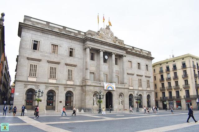 Ayuntamiento de Barcelona en la Plaça Sant Jaume