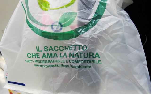 sacchetto biodegradabile compostabile