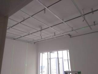 Pemasangan rangka besi siling di ruang bilik tidur 3