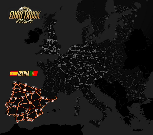 Euro Truck Simulator 2: Iberia Map