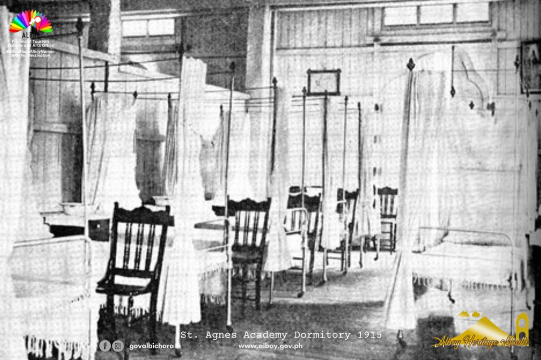 𝐒𝐭. 𝐀𝐠𝐧𝐞𝐬 𝐀𝐜𝐚𝐝𝐞𝐦𝐲 used as hospital by the war-ravaged people of Legazpi