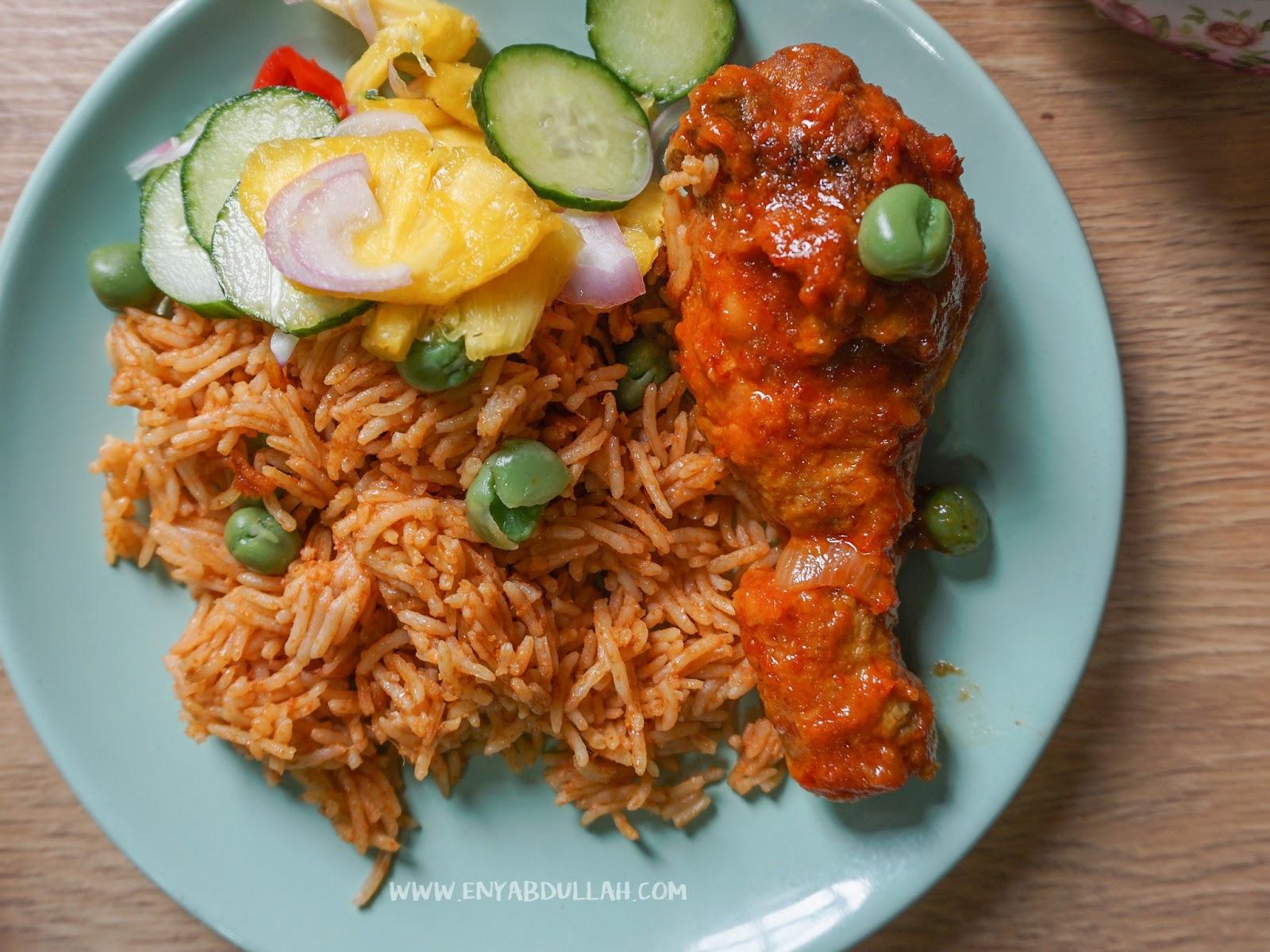 Nasi Tomato Utara Dan Ayam Masak Merah Style Kenduri | EnyAbdullah.Com