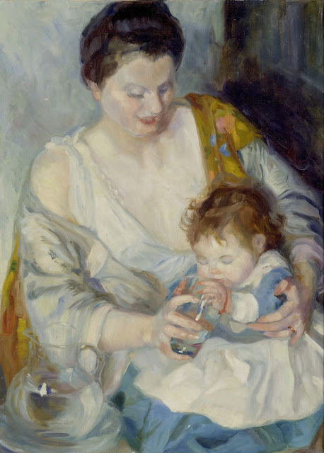 Armando Spadini - Mother with Child