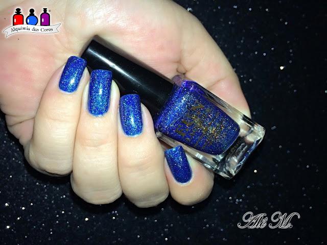 FUN Lacquer, Blue Tears, Summer 2015 Collection, Azul Cobalto, Holo, Alê M