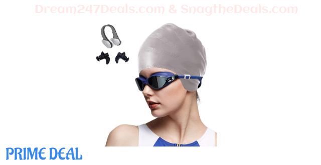 50%OFF OKELA Silicone Solid Swim Cap,3D Ergonomic Design Comfortable Bathing Swimming Cap for Women and Men, Ideal for Short Medium Long Hair
