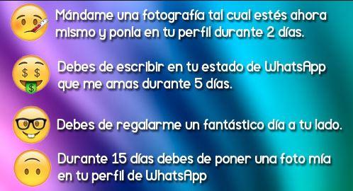 Juegos De Whatsapp De Elegir Emoticonos Cadenas Para Whatsapp Y Retos