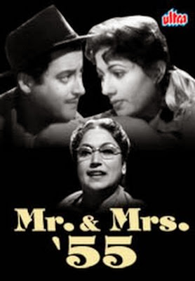 Poster Of Bollywood Movie Mr. & Mrs. 55 (1955) 300MB Compressed Small Size Pc Movie Free Download worldfree4u.com