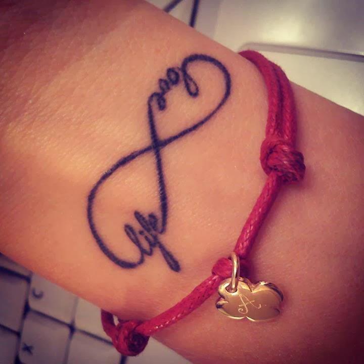 Temporary tattoo infinity symbol 'Love Life' – Temporary ... |Infinity Symbol Love Life