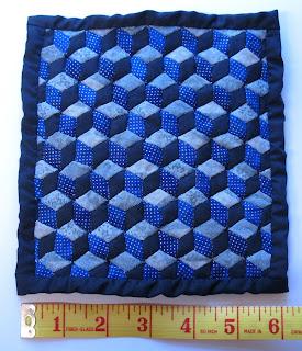 blue diamonds quilt