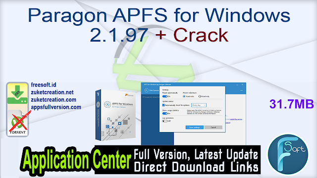Paragon APFS for Windows 2.1.97 + Crack