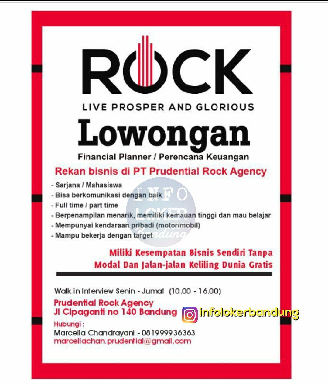 Lowongan Kerja PT. Prudential Rock Agency Bandung November 2017
