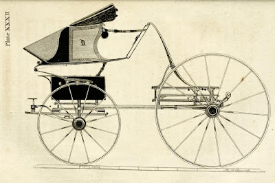 Perch high phaeton from A Treatise on carriages by W Felton (1796)