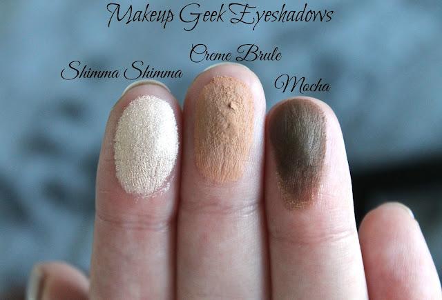 Makeup Geek Matte Eyeshadows Swatched