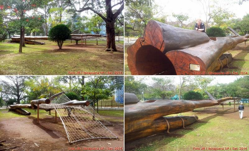 Escultura com árvore | Vista de vários ângulos no Ibirapuera
