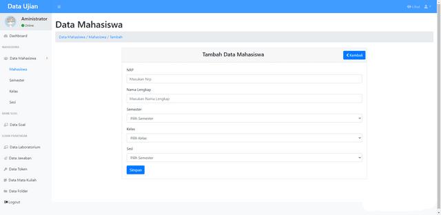 Source Code Aplikasi Ujian Praktikum