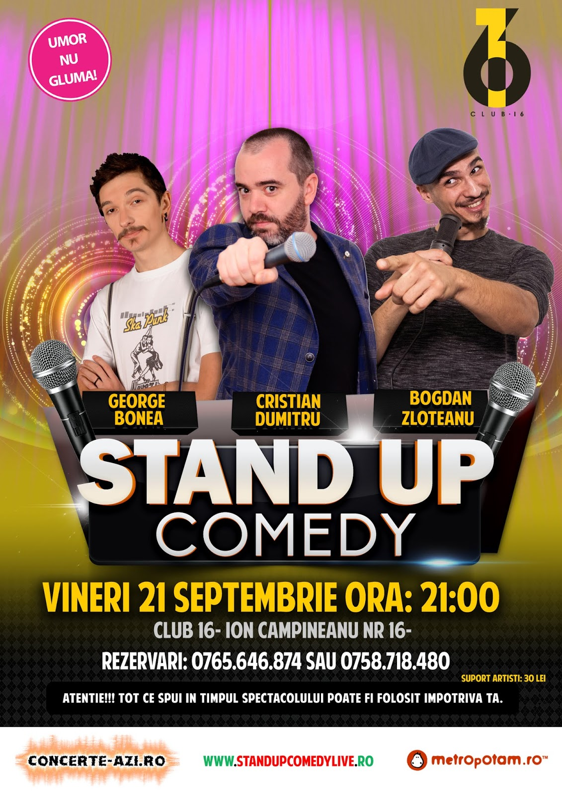 Stand-Up Comedy Bucuresti Vineri 21 Septembrie