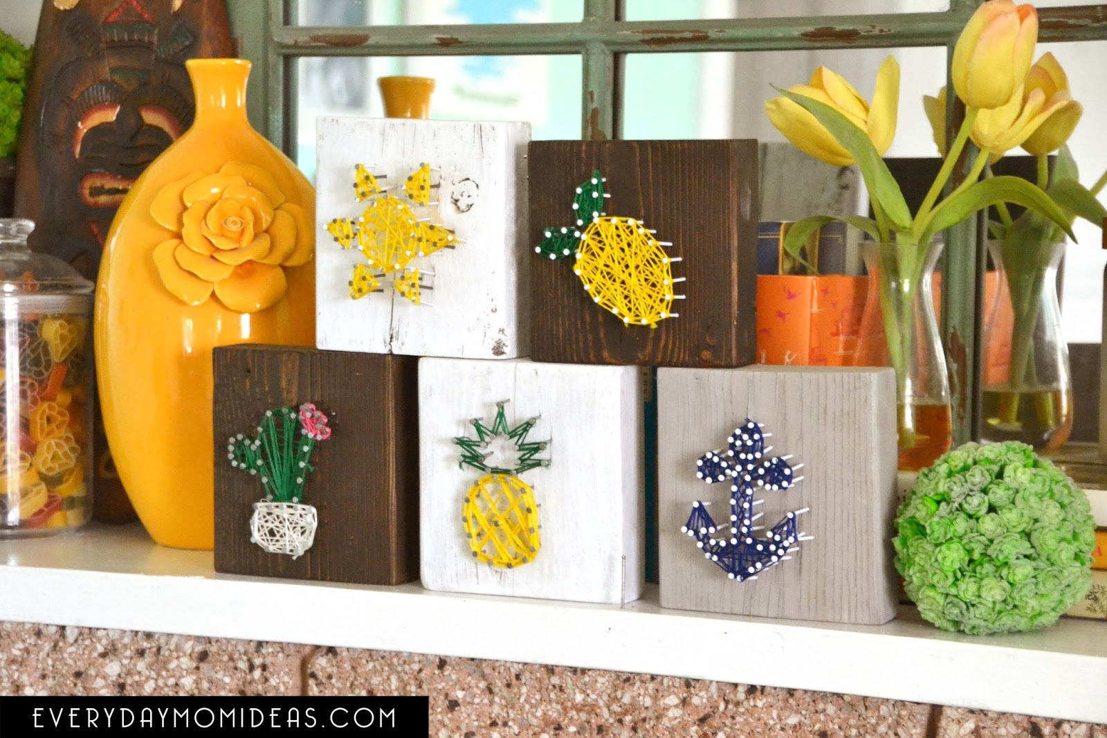 Mini String Art / Free Summer Time Templates Printable / Part 1 6 Designs House of Pixel Dust