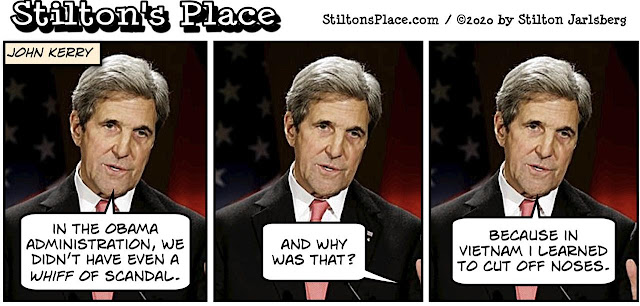 stilton's place, stilton, political, humor, conservative, cartoons, jokes, hope n' change, kerry, iran, scandal, obama, cash
