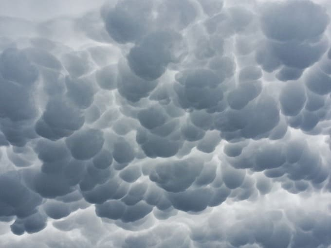 Mammatus clouds:
