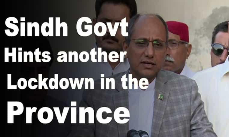 Saeed Ghani hints of another lockdown in Sindh