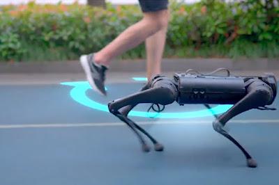 robot, robot anjing, unitree robotics